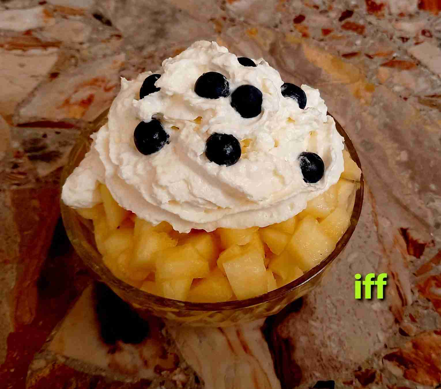 Whipped Cream With Pineapple